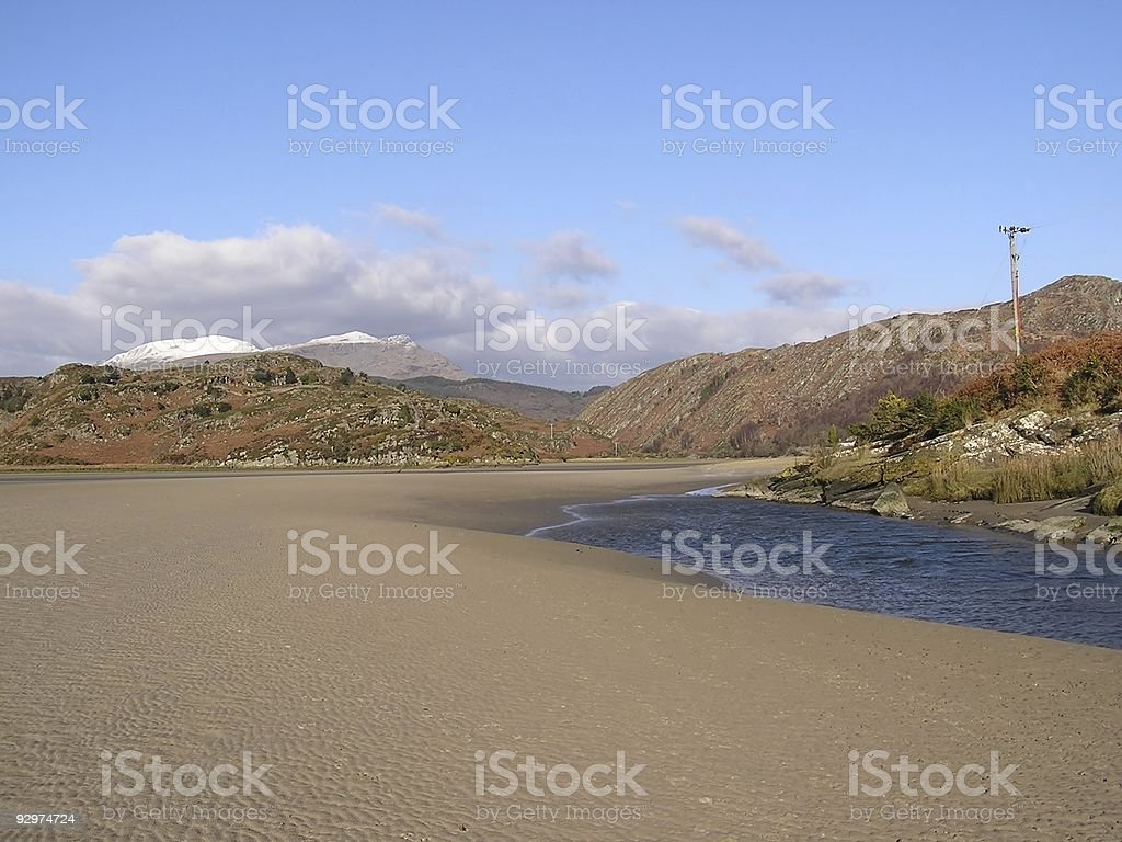 Estuary stock photo