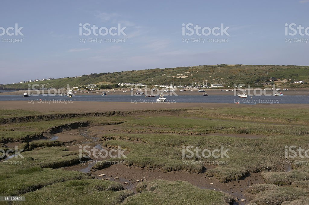 Estuary  view tide out royalty-free stock photo