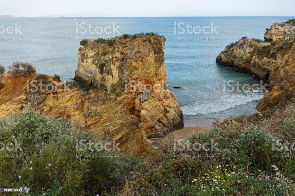 Estudantes beach in Lagos, Portugal royalty-free stock photo
