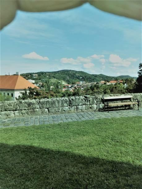 Esztergom at the Danube Bend stock photo