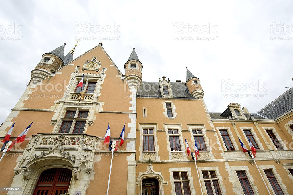 Etampes (France) - Townhall, exterior of historic building royalty-free stock photo