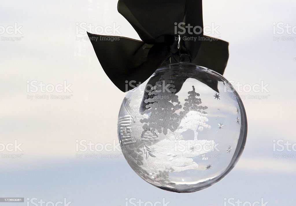 Etched Glass Christmas Ornament royalty-free stock photo