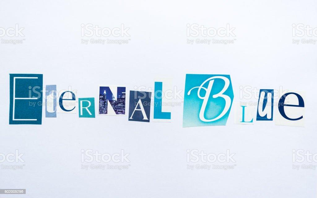 Eternal Blue - note stock photo