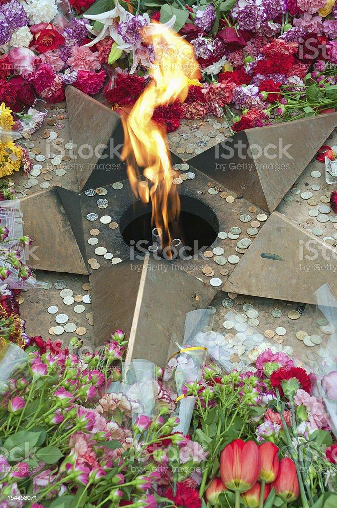 Eternal fire royalty-free stock photo