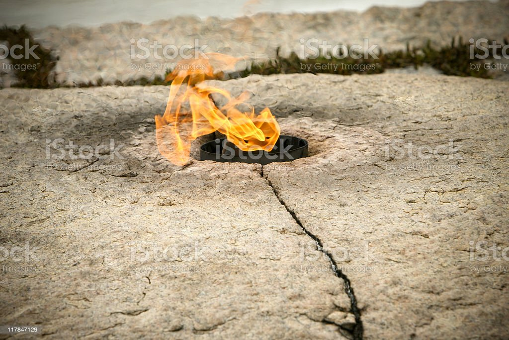 eternal flame royalty-free stock photo