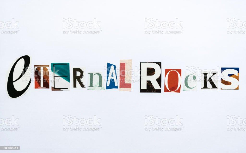 Eternal Rocks - note stock photo