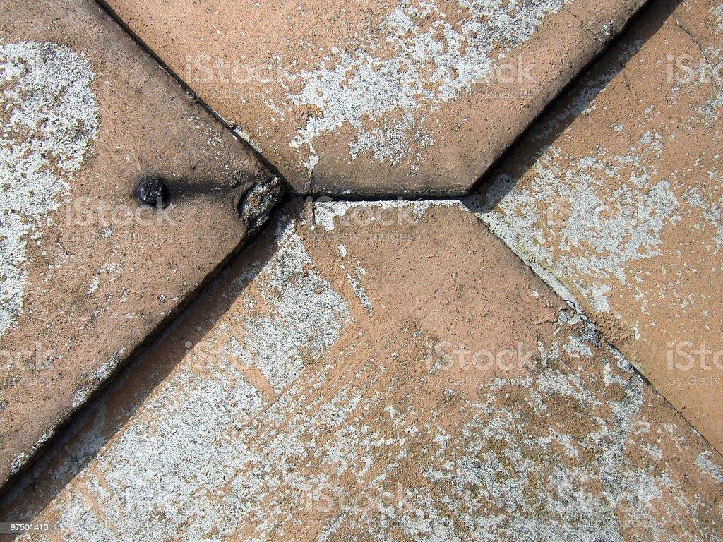 Eternit asbestos old tiles royalty-free stock photo