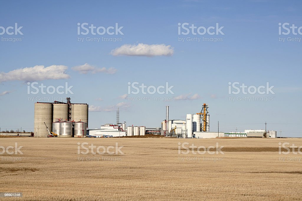 Ethanol Fuel Plant royalty-free stock photo