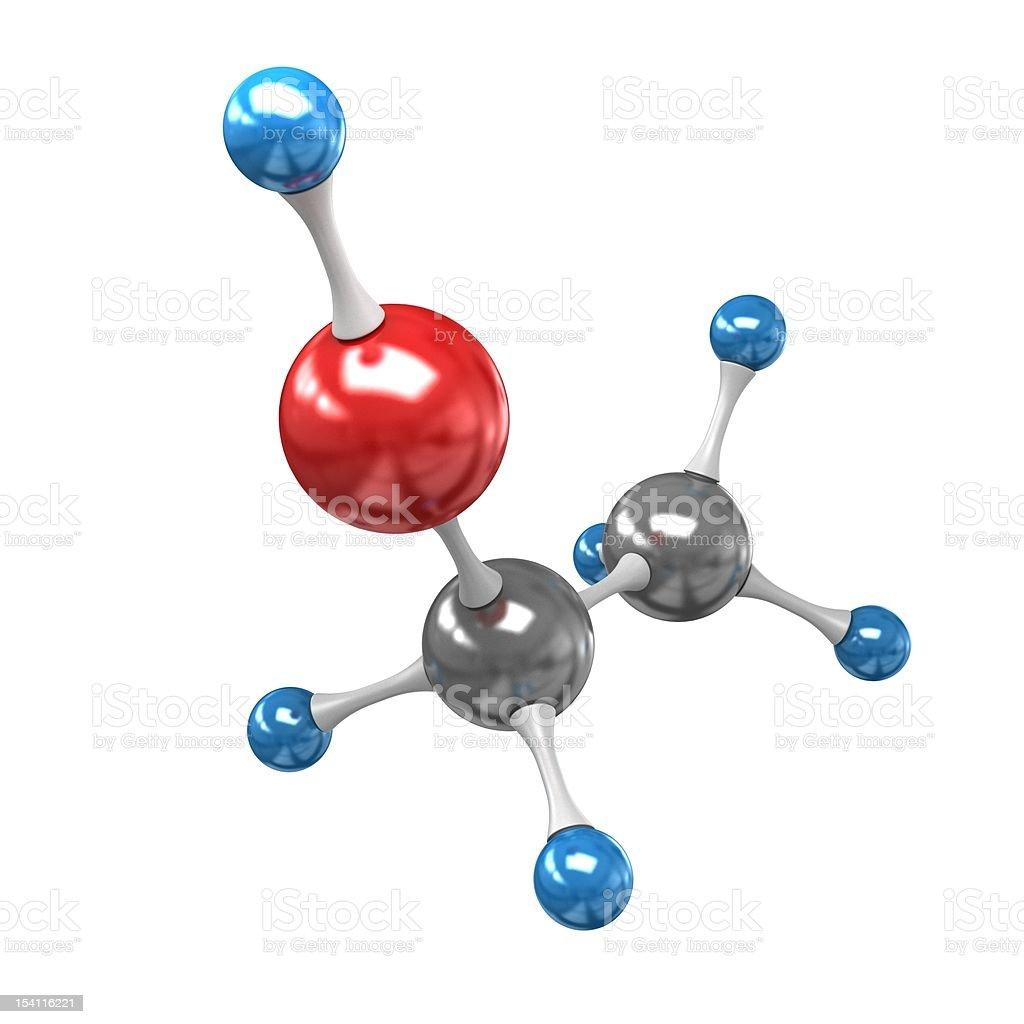 Ethanol molecule royalty-free stock photo