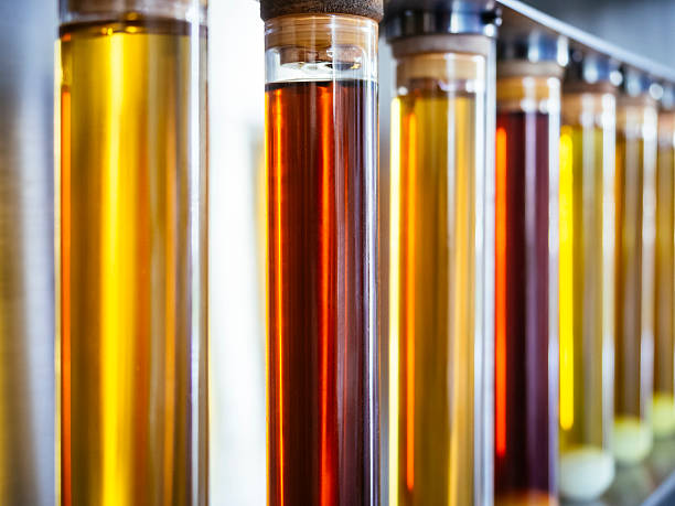 Ethanol oil test in Tube Fuel Biodiesel research Industry - Photo