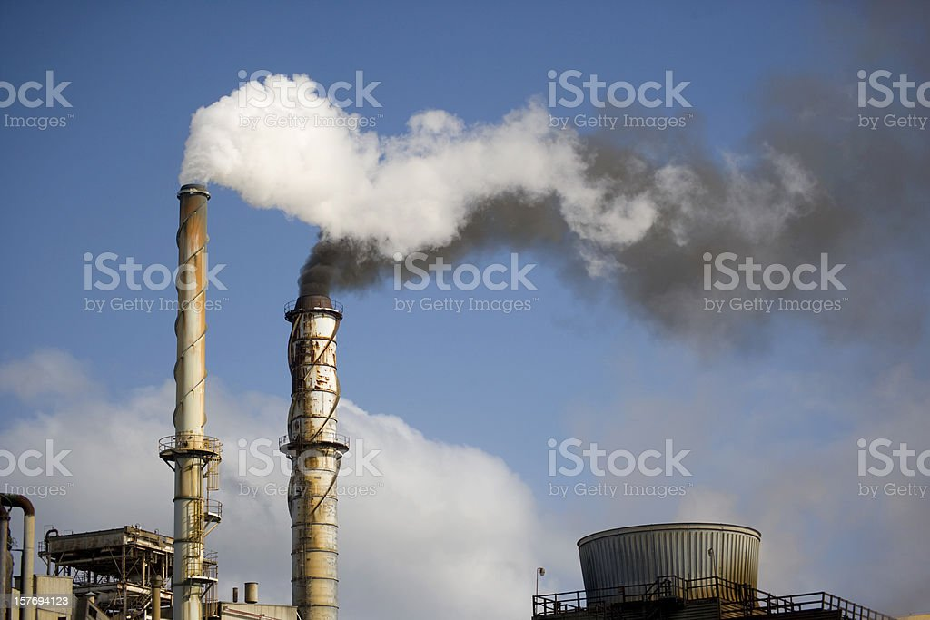 Ethanol Plant royalty-free stock photo