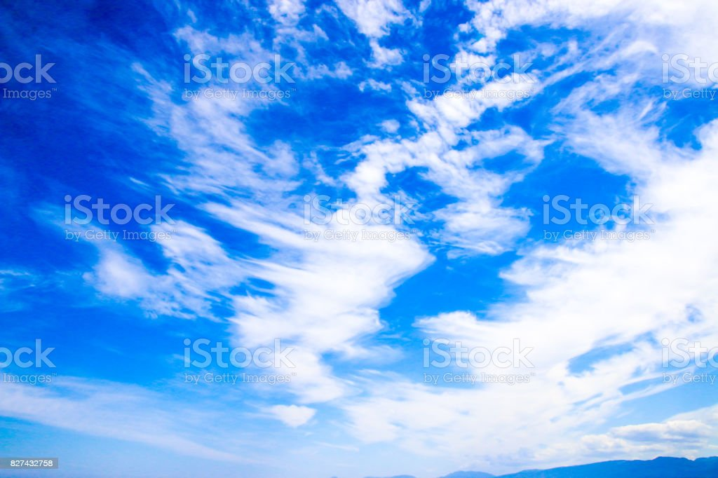 Ethereal Cloudscape stock photo