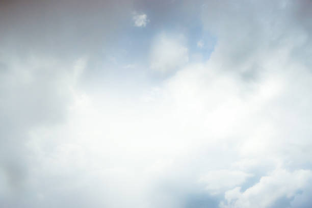 ethereal cloudy sky - soft focus stock photos and pictures