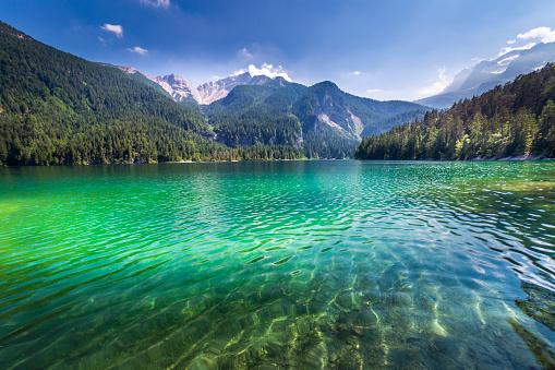 Ethereal Lake Tovel landscape – Trentino, Dolomites – Italy