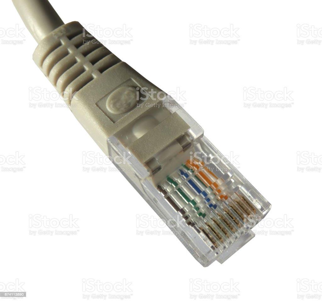 RJ45 Ethernet Plug Isolated stock photo