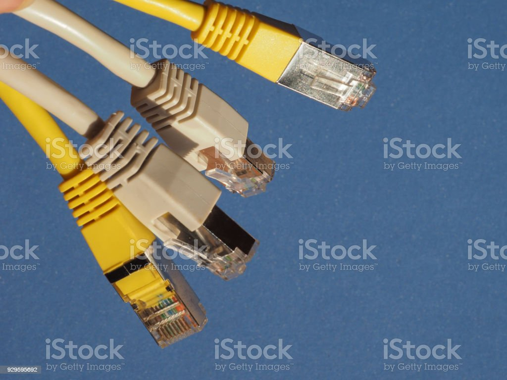 RJ45 ethernet plug stock photo