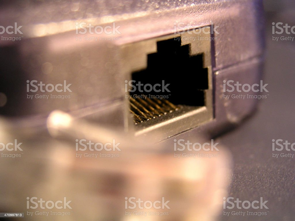 Ethernet Port & Cord royalty-free stock photo
