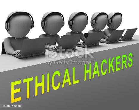 istock Ethical Hacker Tracking Server Vulnerability 3d Rendering 1046148816