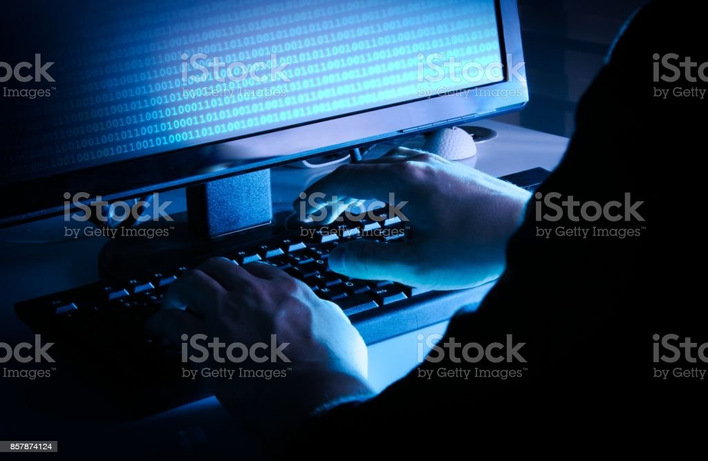Ethical hacking concept stock photo