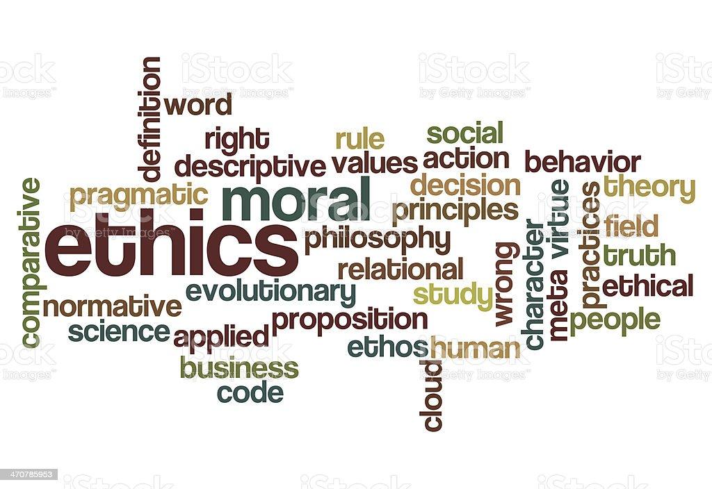 ethics moral philosophy background stock photo