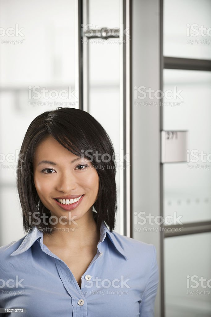 Ethinc buiness woman smiling royalty-free stock photo