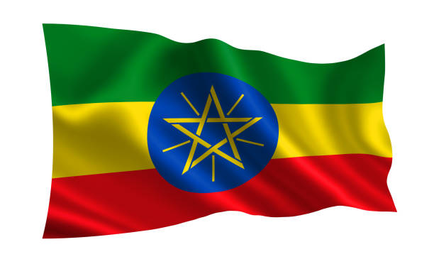 "ethiopia flag. a series of ""flags of the world."" (the country - ethiopia flag) - ethiopian flag stock photos and pictures"