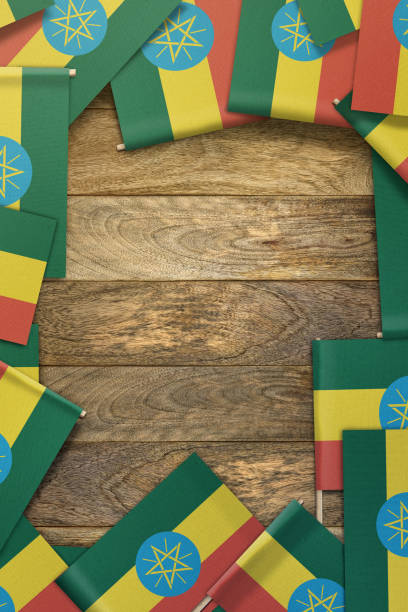 ethiopia flag - ethiopian flag stock photos and pictures