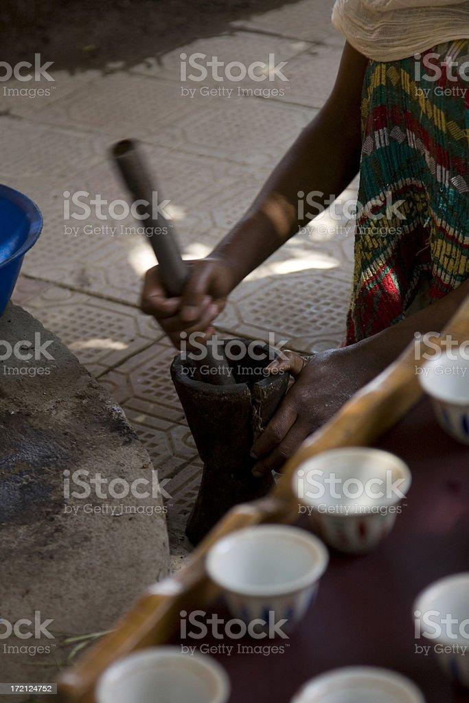 Ethiopian Coffee royalty-free stock photo