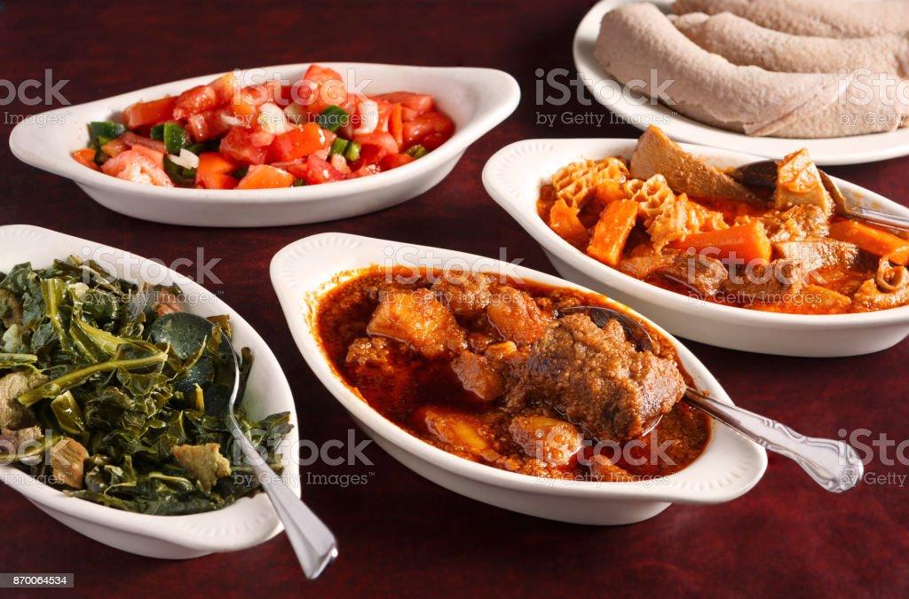 Ethiopian Food stock photo