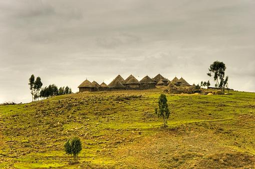 huts in ethiopia.