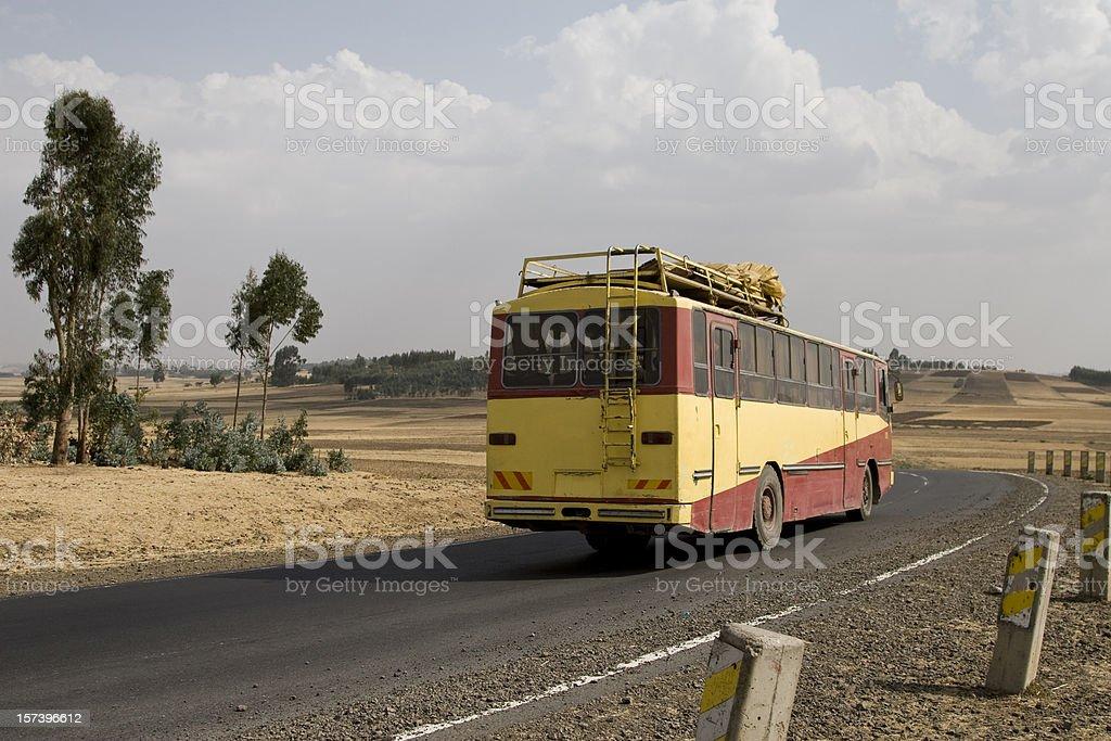 Ethiopian public bus stock photo