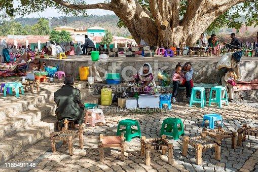 istock Ethiopian traditional Coffee ceremony, Aksum, Ethiopia Africa 1185491148
