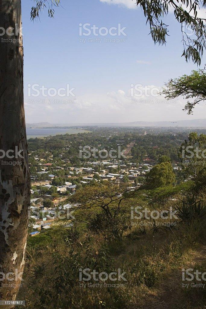 Ethiopian village royalty-free stock photo
