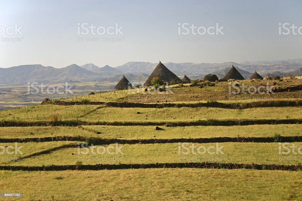 Ethiopian Village royalty-free stock photo