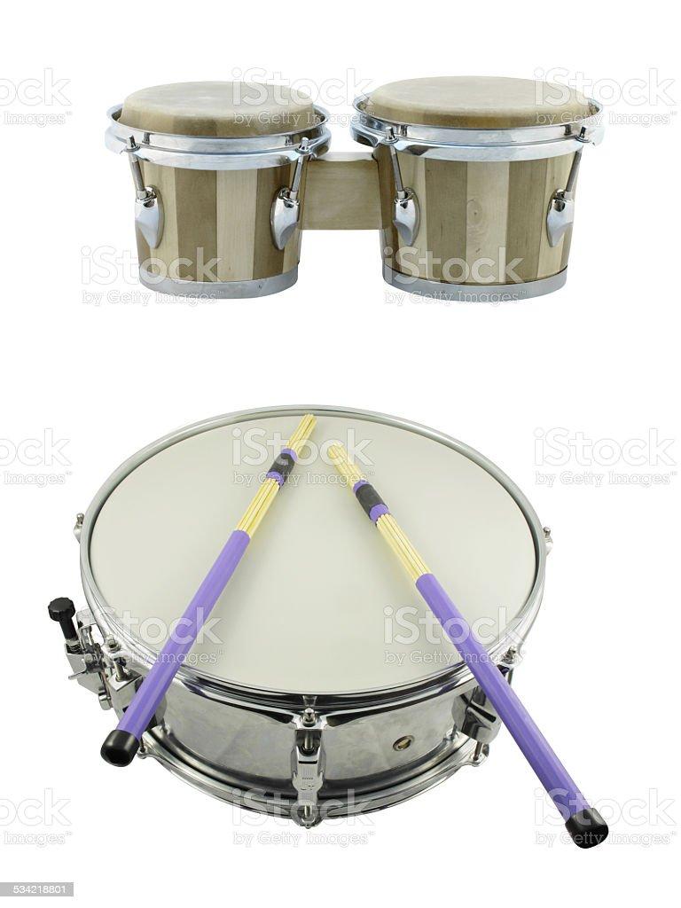 ethnic african drum stock photo