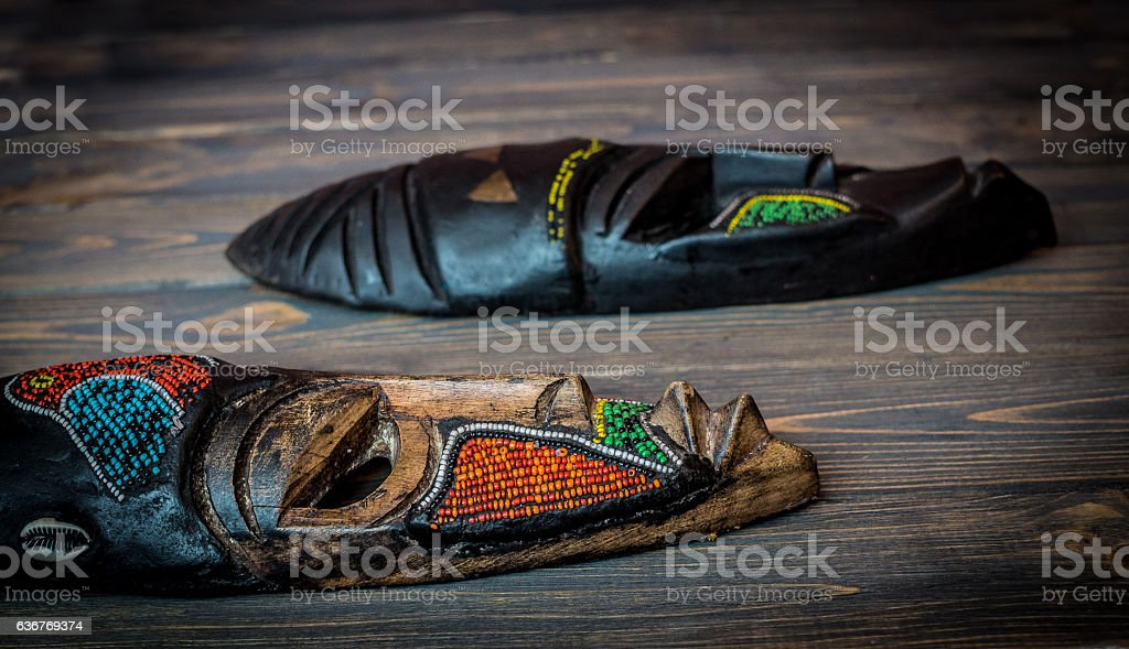 Ethnic African mask stock photo