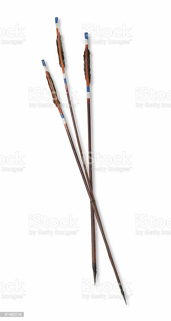 Ethnic arrows, isolated on white background stock photo