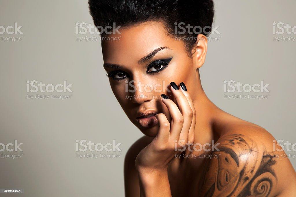 Ethnic beauty stock photo