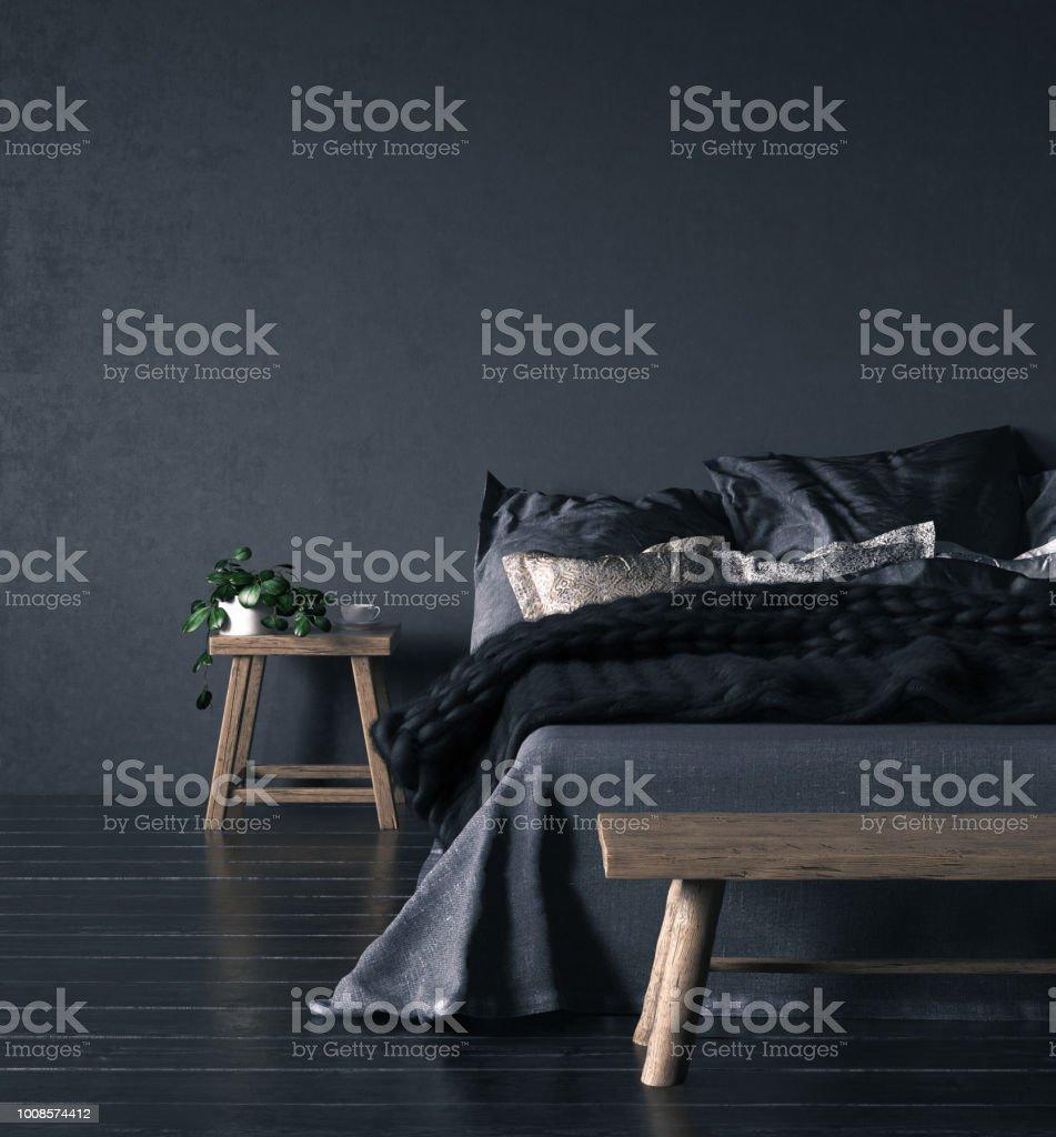 Interior de dormitorio étnico foto de stock libre de derechos