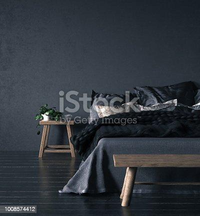 istock Ethnic bedroom interior 1008574412