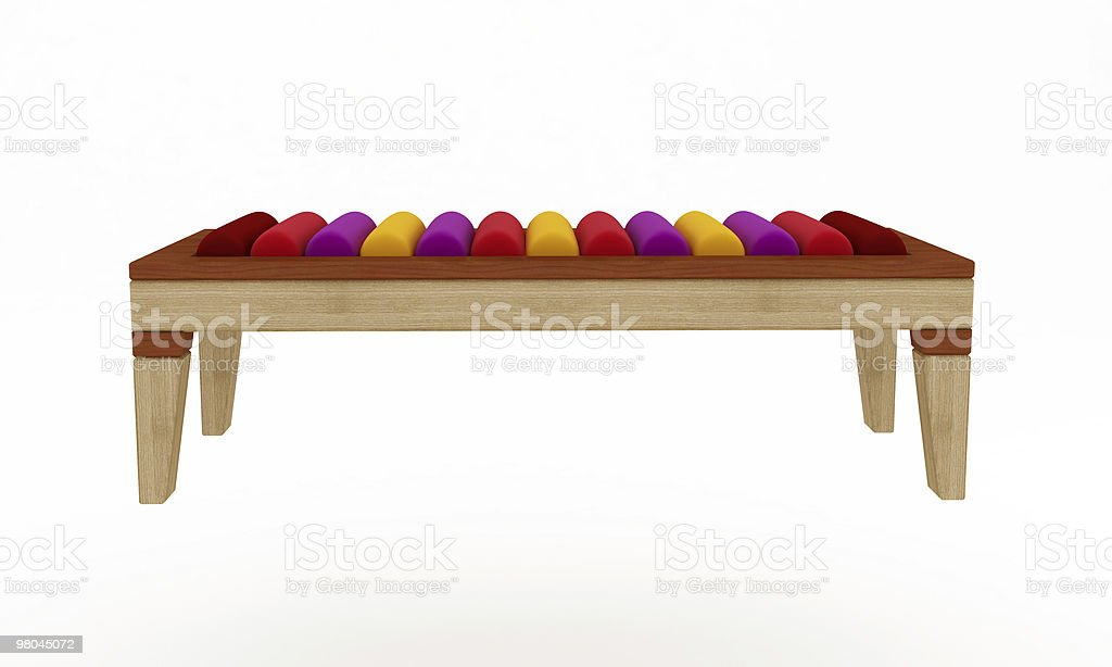 ethnic bench royalty-free stock photo