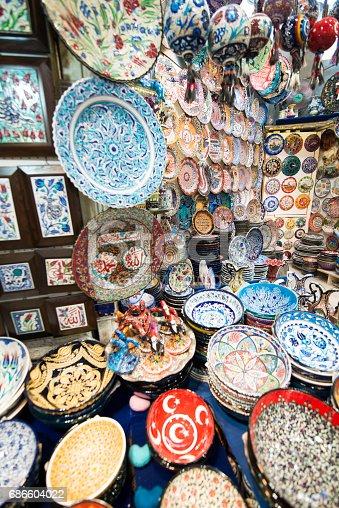 c145d6a06bbd Photo libre de droit de Plaques En Céramique Ethniques Et Souvenirs En Grand  Bazar Istanbul Turquie banque d images et plus d images libres de droit de   top ...