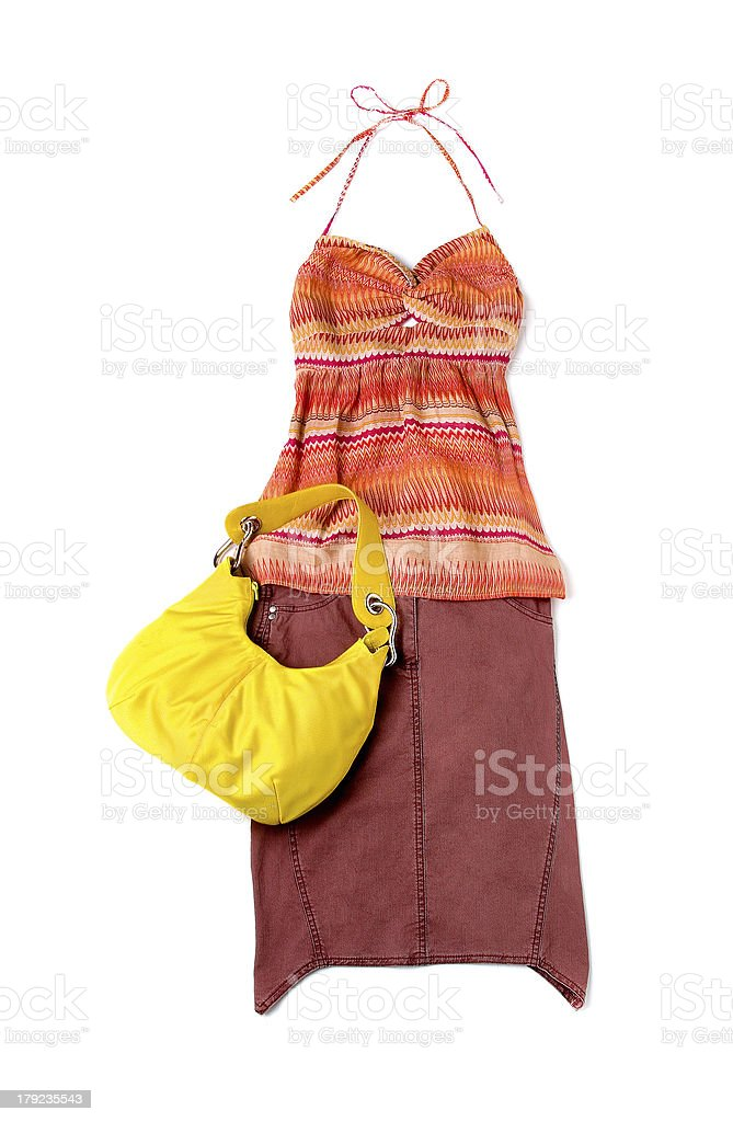 Ethnic empire line styling fashion composition stock photo