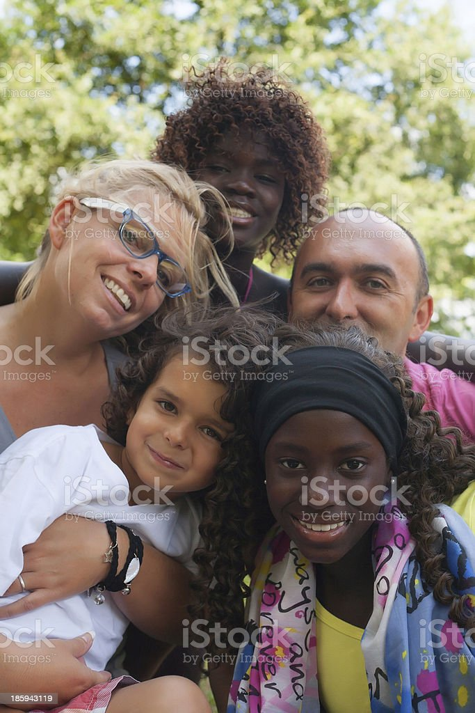 Ethnic Family stock photo