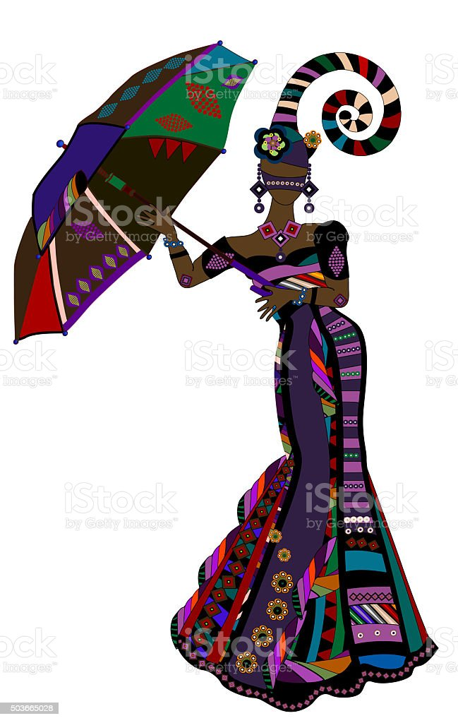 ethnic fashion stock photo