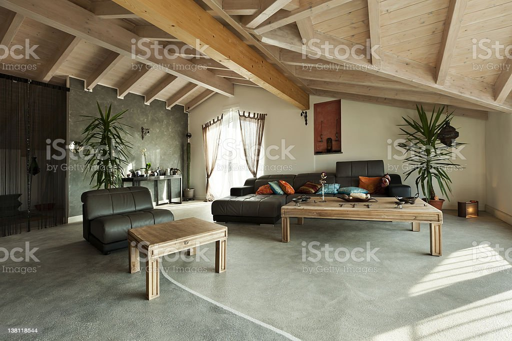 ethnic furniture, living room royalty-free stock photo