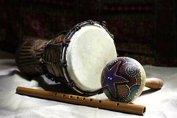 ethnic instruments stock photo