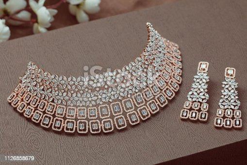indian jewellery in indoor lighting
