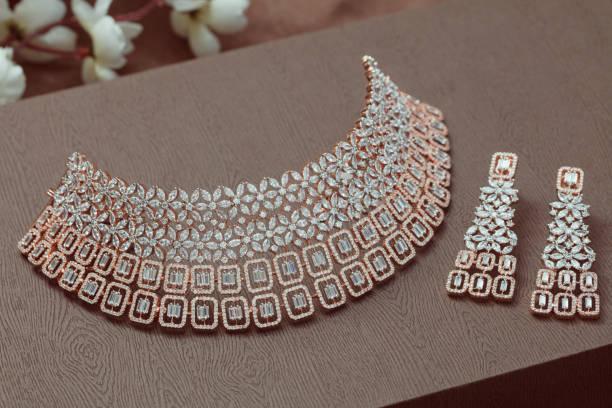ethnic jewellery in low light stock photo