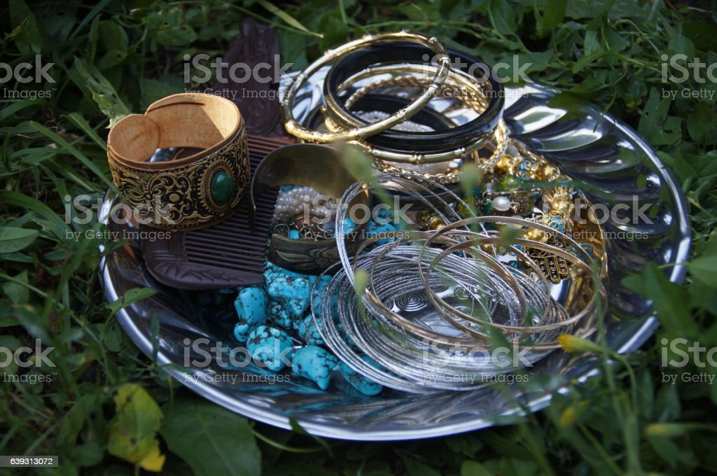 ethnic jewelry stock photo